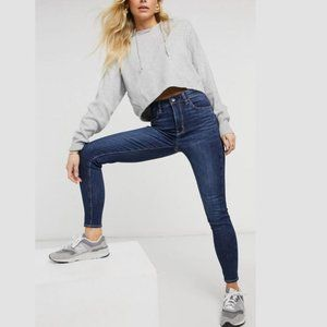American Eagle High Rise Blue Jeggings Jeans